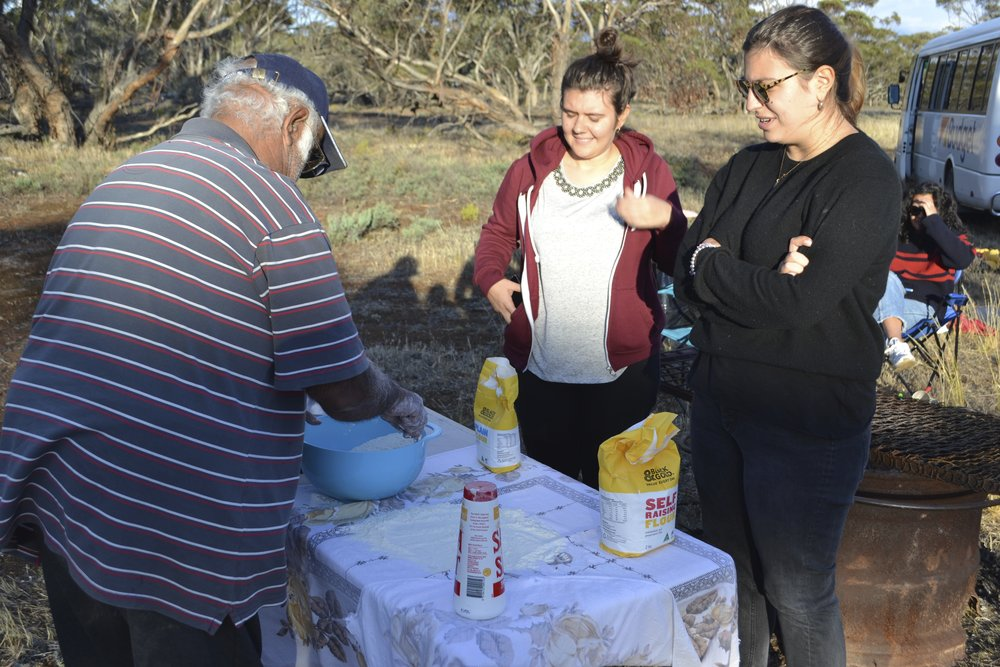 Uncle Barry making nhikki manhu (credit: Jock Gilbert)