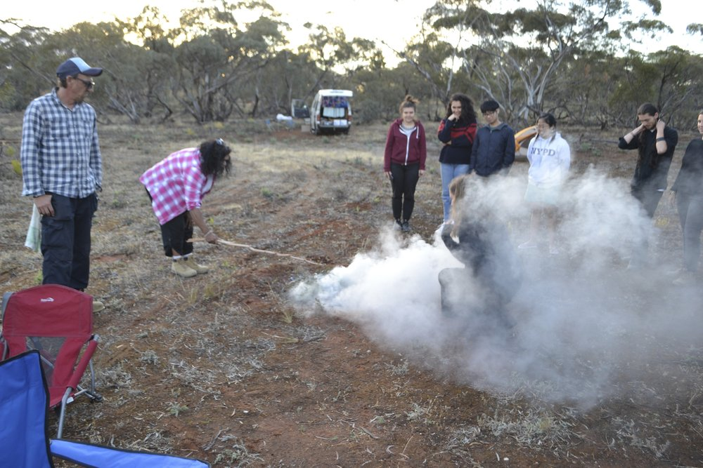 Welcome to country smoking ceremony at Culpra Station (credit: Jock Gilbert)
