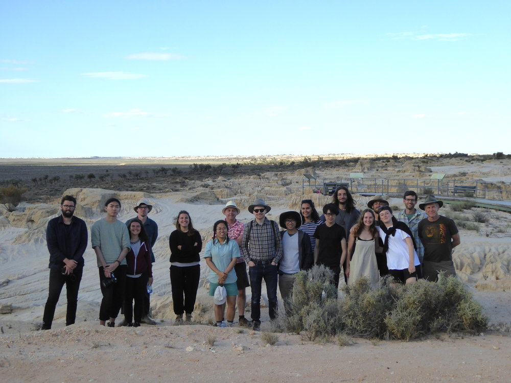 Students at Lake Mungo (credit: Bruce Partland)
