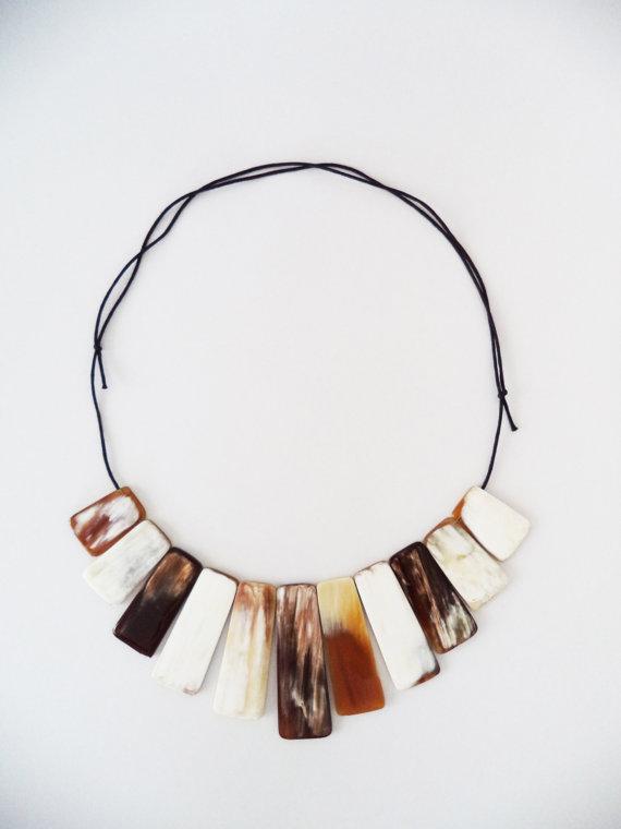 Nam Buffalo Horn Short Necklace