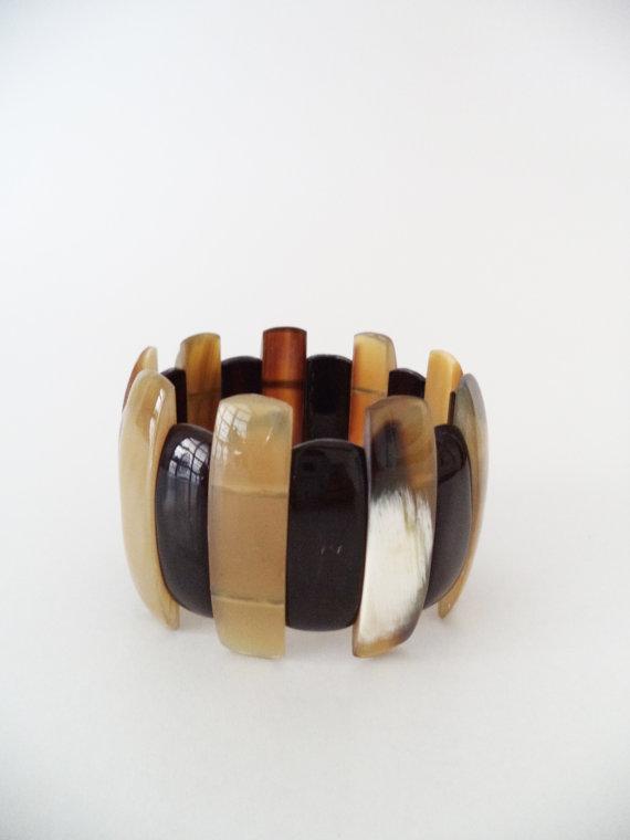 Naomi Buffalo Horn Wide Cuff Bracelet