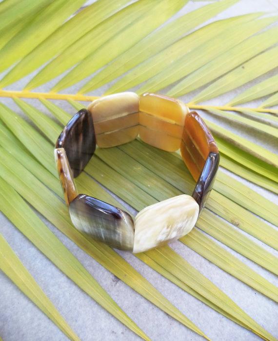Kyi Buffalo Horn Wide Bracelet