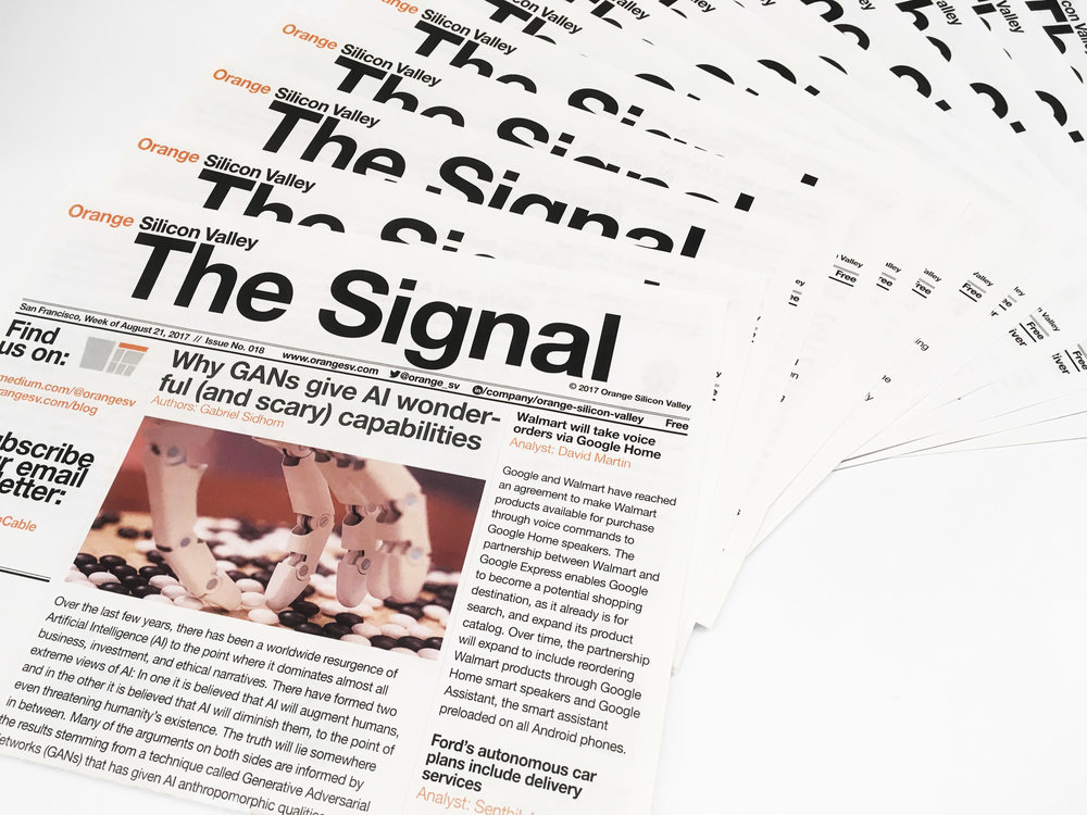 "Printed weekly newsletter ""The Signal"""