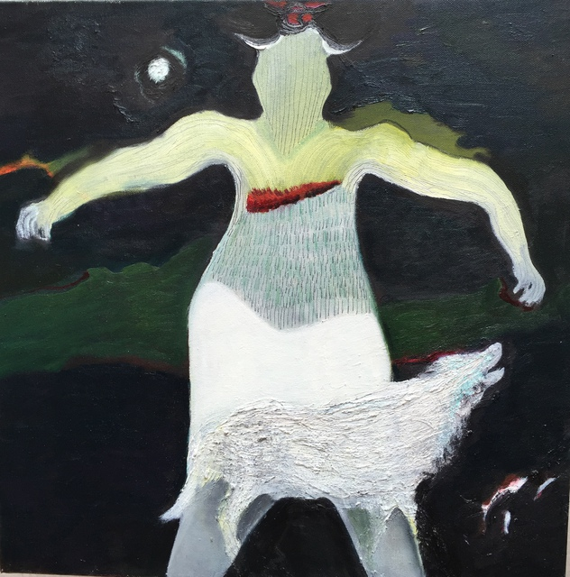 Becky Soria, La Loba, oil on canvas, 16x20, 2015.