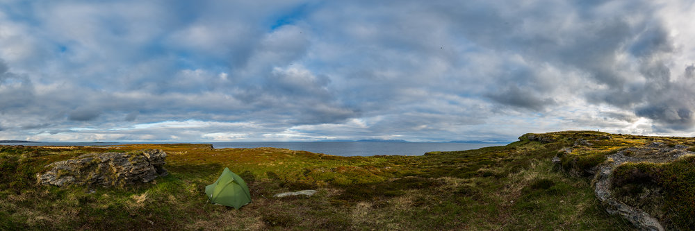 My tent on the peninsula of Ekkerøy.