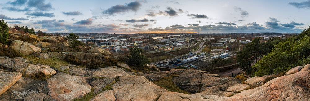 The view over Göteborg from Ramberget