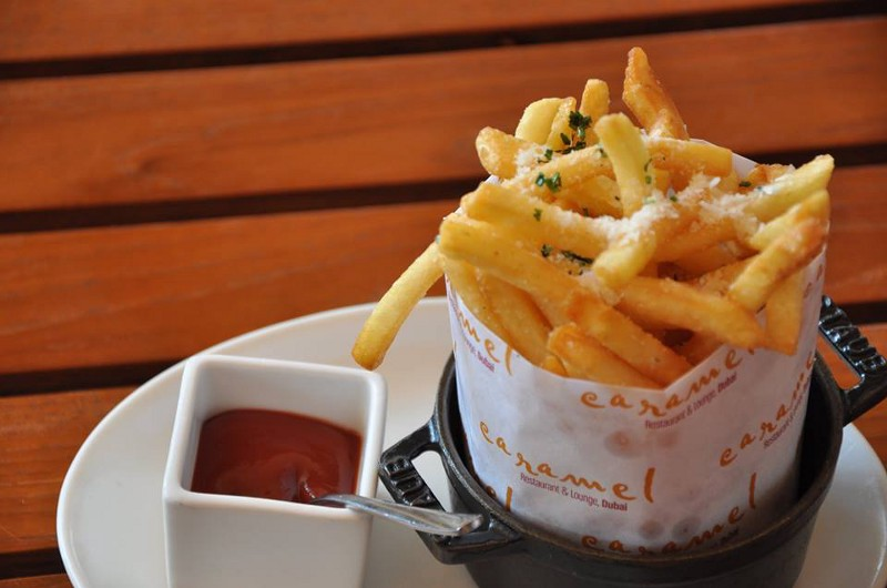 Pomme Frites, Drizzled with Garlic and Parmesan.