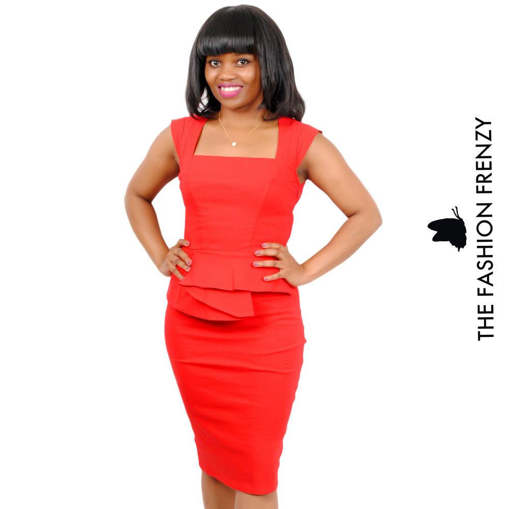 TFFFG56 -Red Official Peplum Dress [2103968].jpg