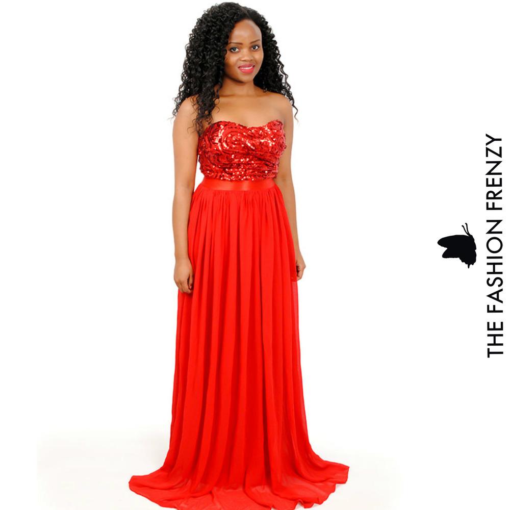 TFFFG61 Red Tubed Dinner dress [2103965].jpg