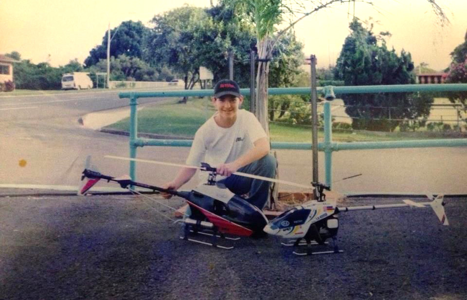 1997 - Aged 13 with my RC helicopters