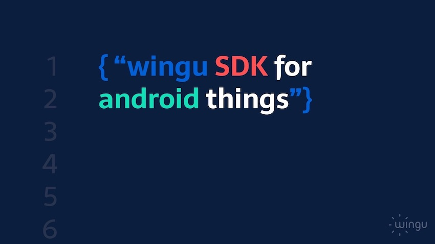 wingu SDK for android things