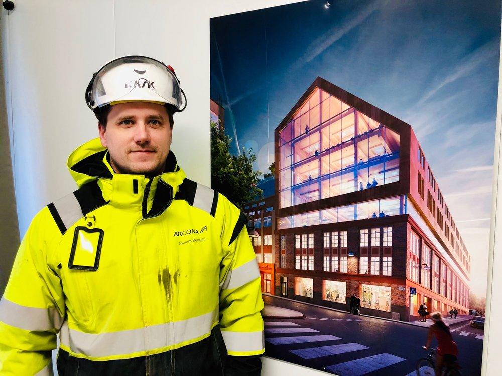 Joakim Redaelli, CS Logistics projektledare, ansvarar för Trikåfabrikens logistik