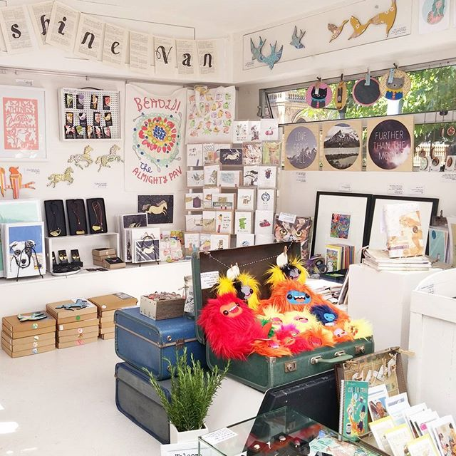 Visited Rene' from @thesunshinevan with new cards and what a delight her gift shop caravan is! Packed to the brim with goodies and a supporter of #pipkruger since the very beginning. Follow her along to find out where she will pop up next! 🎨💕 #caravan #local #shop #design #independent #freelance #markets #adelaide #sunshine #illustration