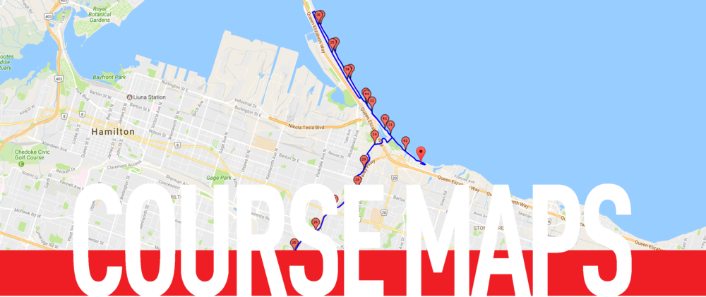 Boston Marathon Course Elevation Map.Course Maps Hamilton Marathon Road2hope
