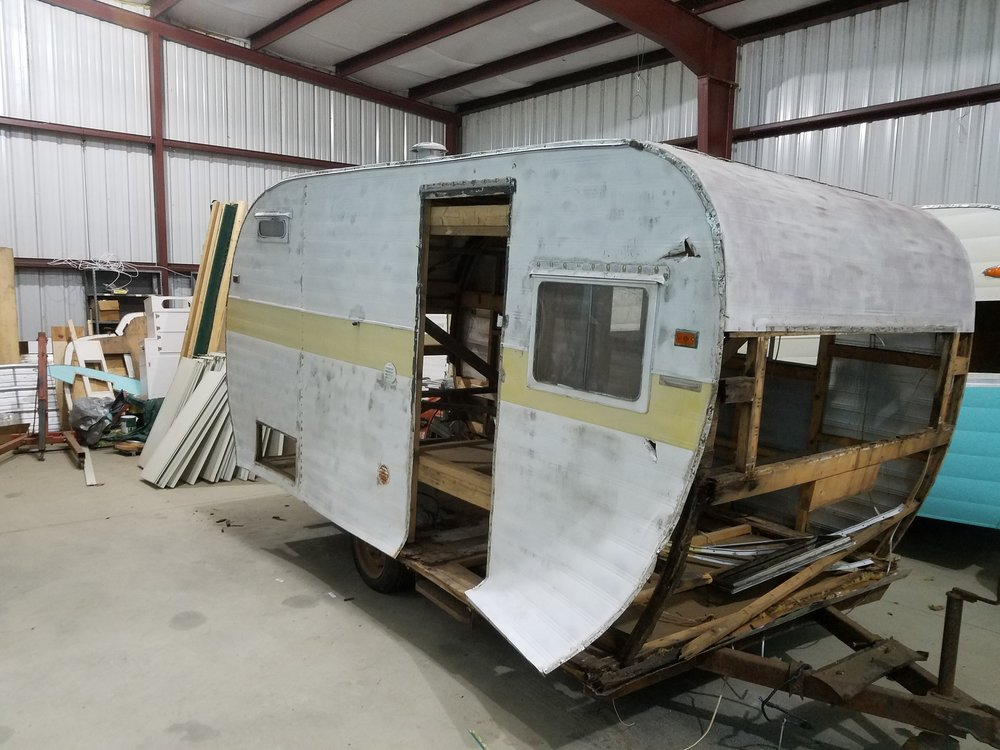 "1957 Fan.  This trailer comes with the windows, doors and all the parts it came with. We have removed the skins for winter storage. This is a very well built trailer when compared to other brands. This canned Ham comes with a spot on our ""Que"" to enter our shop.  $1500.00"
