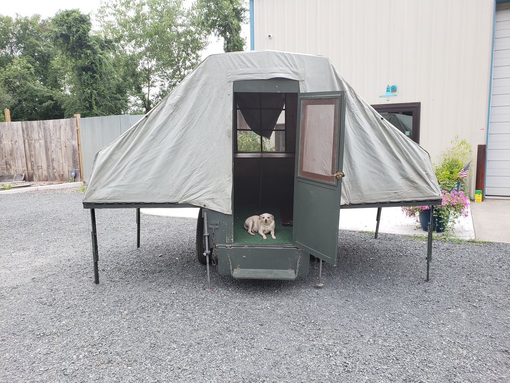 1931 Zagelmeyer - This camper is a early Folding Tent Trailer. It can be displayed on its own or with our 1930 Model A truck