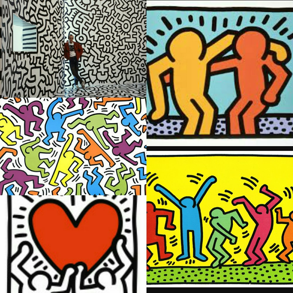 Keith Haring Art Saint Fergals National School Bray