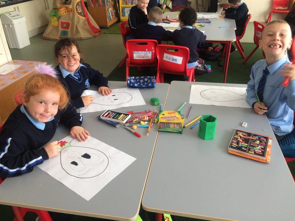 Drawing self portraits!