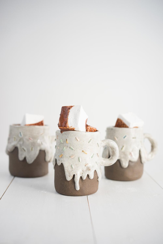 Ganache hot chocolate with vanilla marshmallows