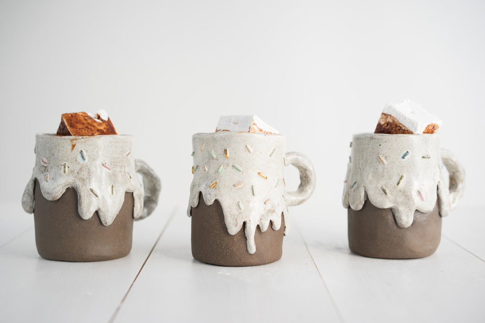 Ganache hot chocolate with vanilla marshmallows
