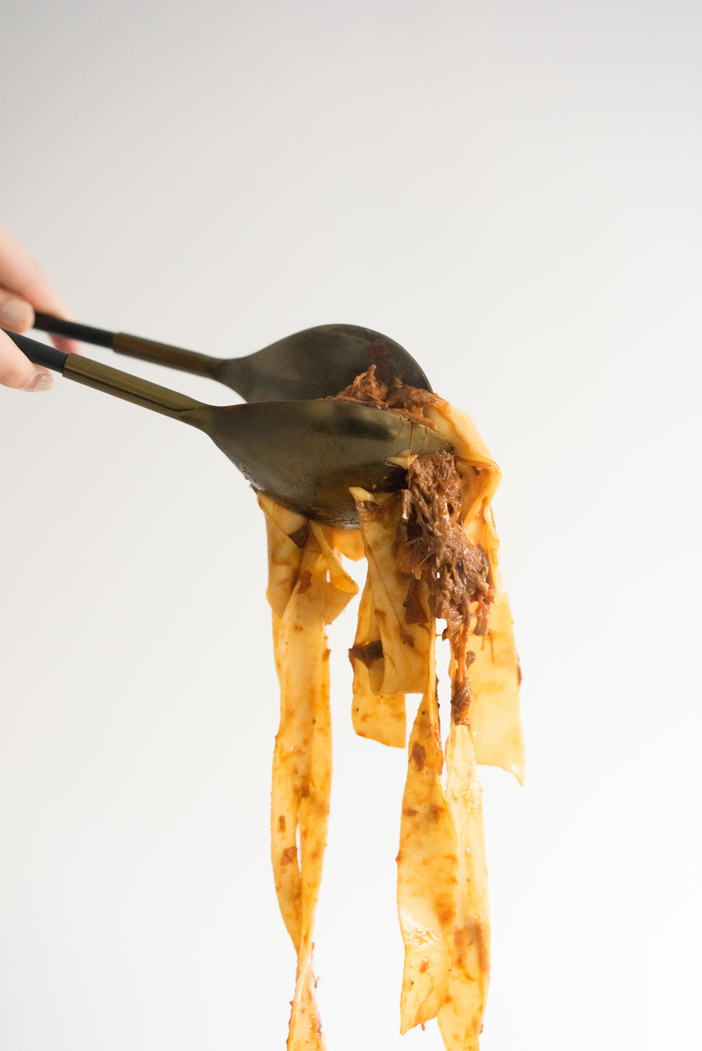 Fresh pappardelle tossed with a rich beef and mushroom ragu - the ultimate comfort food
