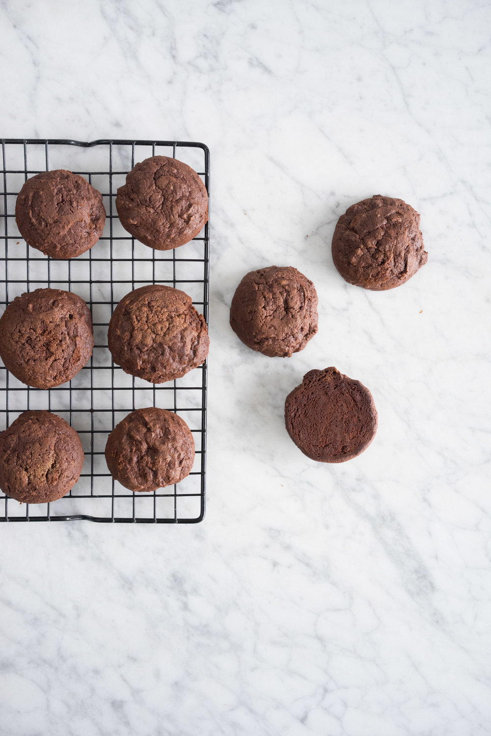 Chocolate stout cookies with coffee german buttercream