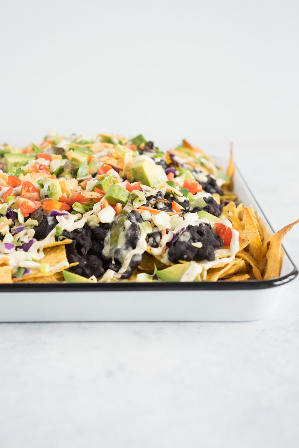 Black bean sheet pan nachos - the perfect simple throw together dinner