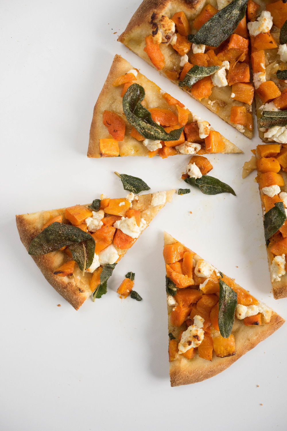 Roast butternut, goat cheese, brown butter, and sage pizza