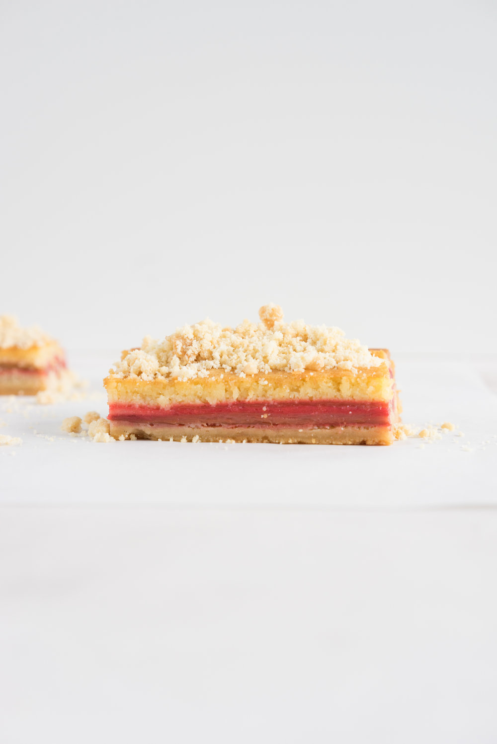 Brown butter rhubarb streusel tart - pate sucree, brown butter frangipane, cured rhubarb, and toasted almond streusel. Worth every second
