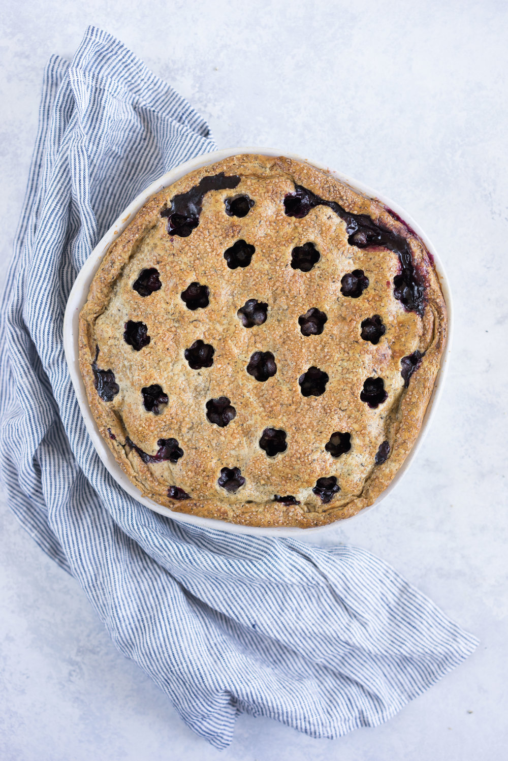 Earl grey blueberry pie