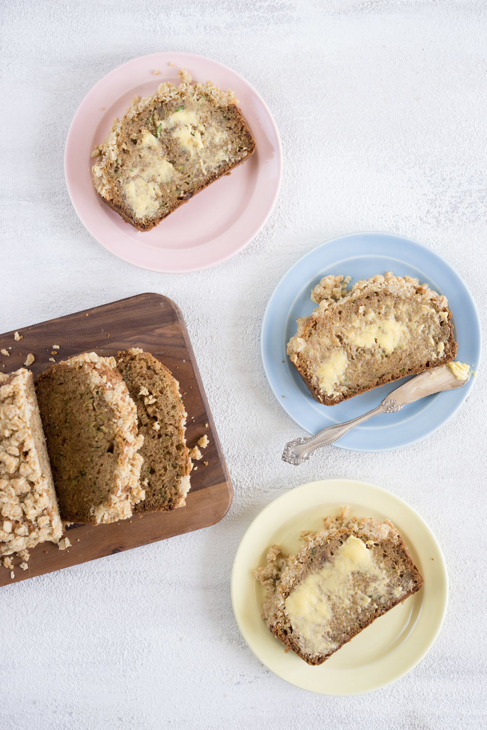 Brown butter zucchini streusel bread - a simple twist on a classic favourite. Plus, everything tastes ten times more delicious if you add streusel.