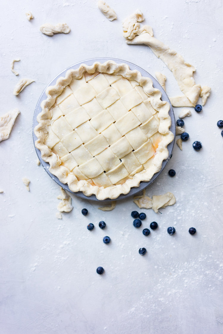 Peach and Blueberry Pie — Cloudy Kitchen