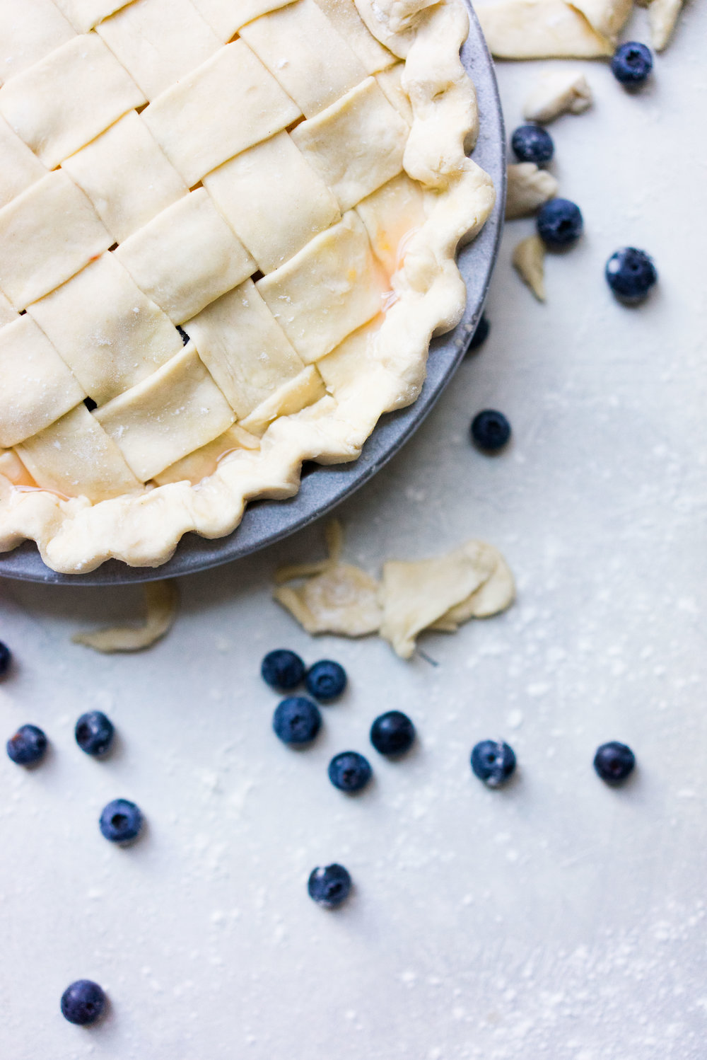 Peach and blueberry pie. The epitome of summer - flavourful fruit, held together in a flaky tender crust, elevated by a touch of sugar. The perfect summer dessert - when you have amazing fruit, you can keep things simple.