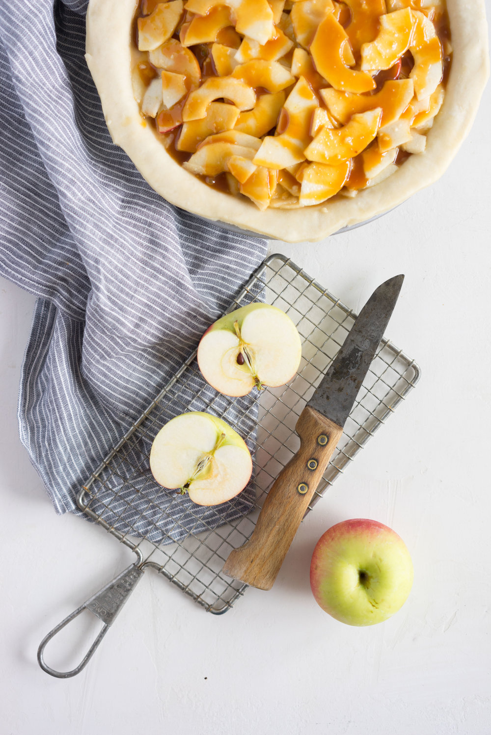 Miso Caramel Apple Pie - Flaky pastry, fresh apples, and a sweet/savoury miso caramel