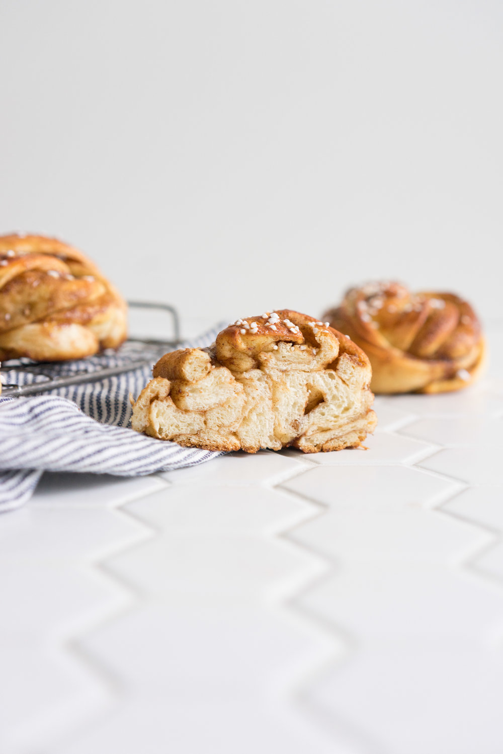 Swedish Cinnamon rolls - cardamom spiced dough filled with a perfectly spiced filling