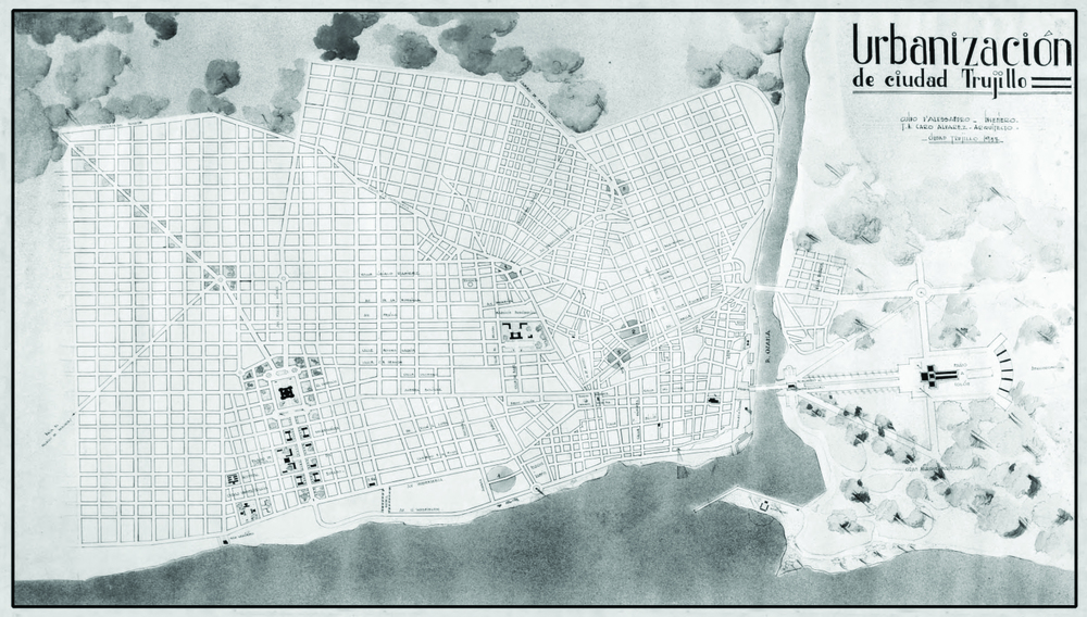 Plano de urbanización de la ciudad capital (junto al Ing. Guido D' Alessandro), 1937 -no realizado-.