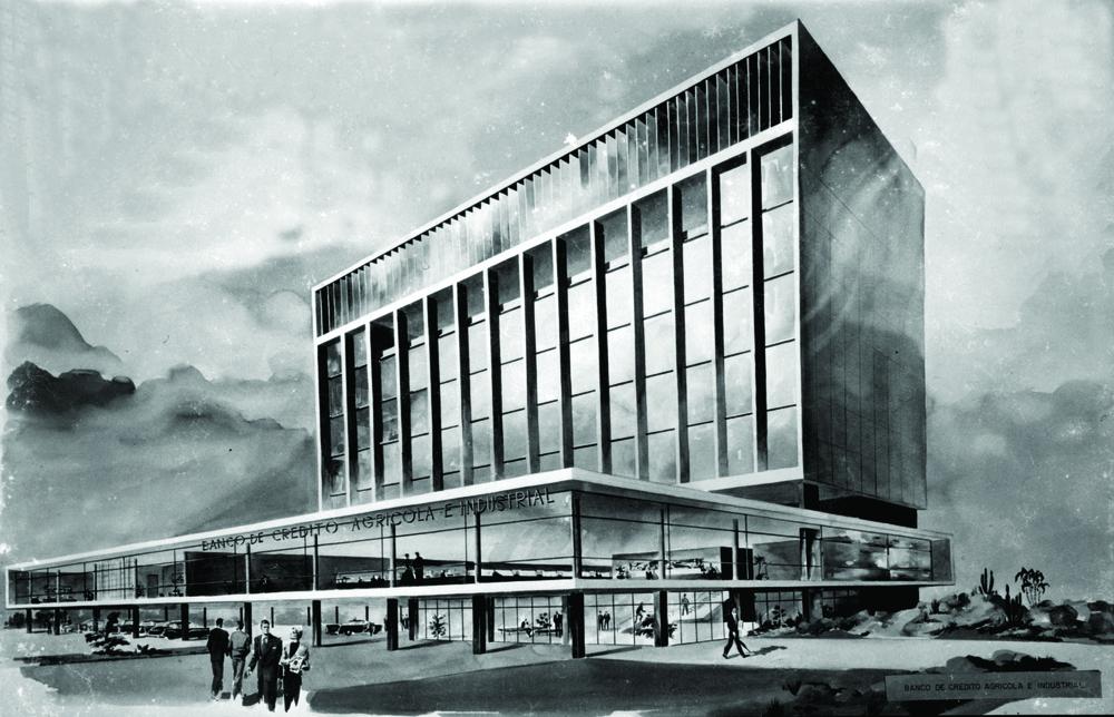 Anteproyecto Banco Agrícola de Crédito e Industrial, S.D c. 1958 –no realizado-.