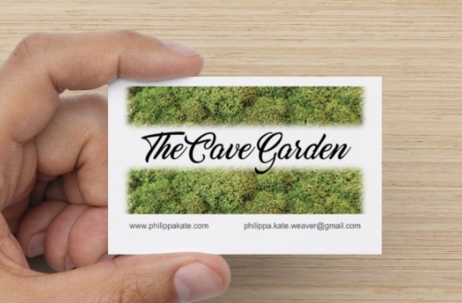 Visitors are given a card with details on so that they can follow the progress and development of The Cave Garden