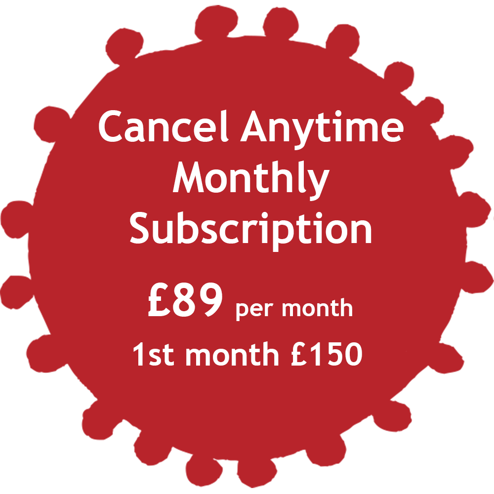 Cancel Anytime Monthly Subscription Tag