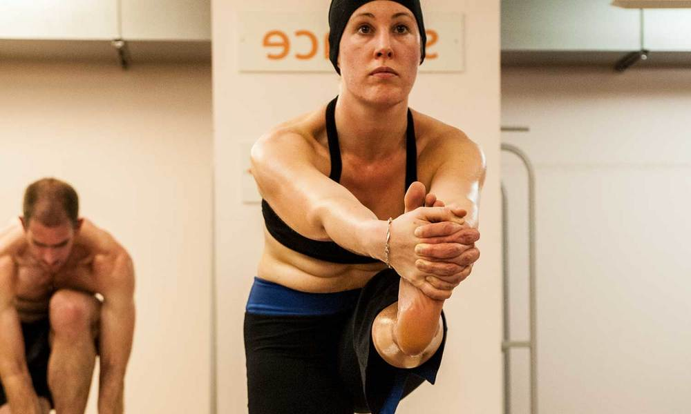 Bikram Hot Yoga Standing Head to Knee Pose