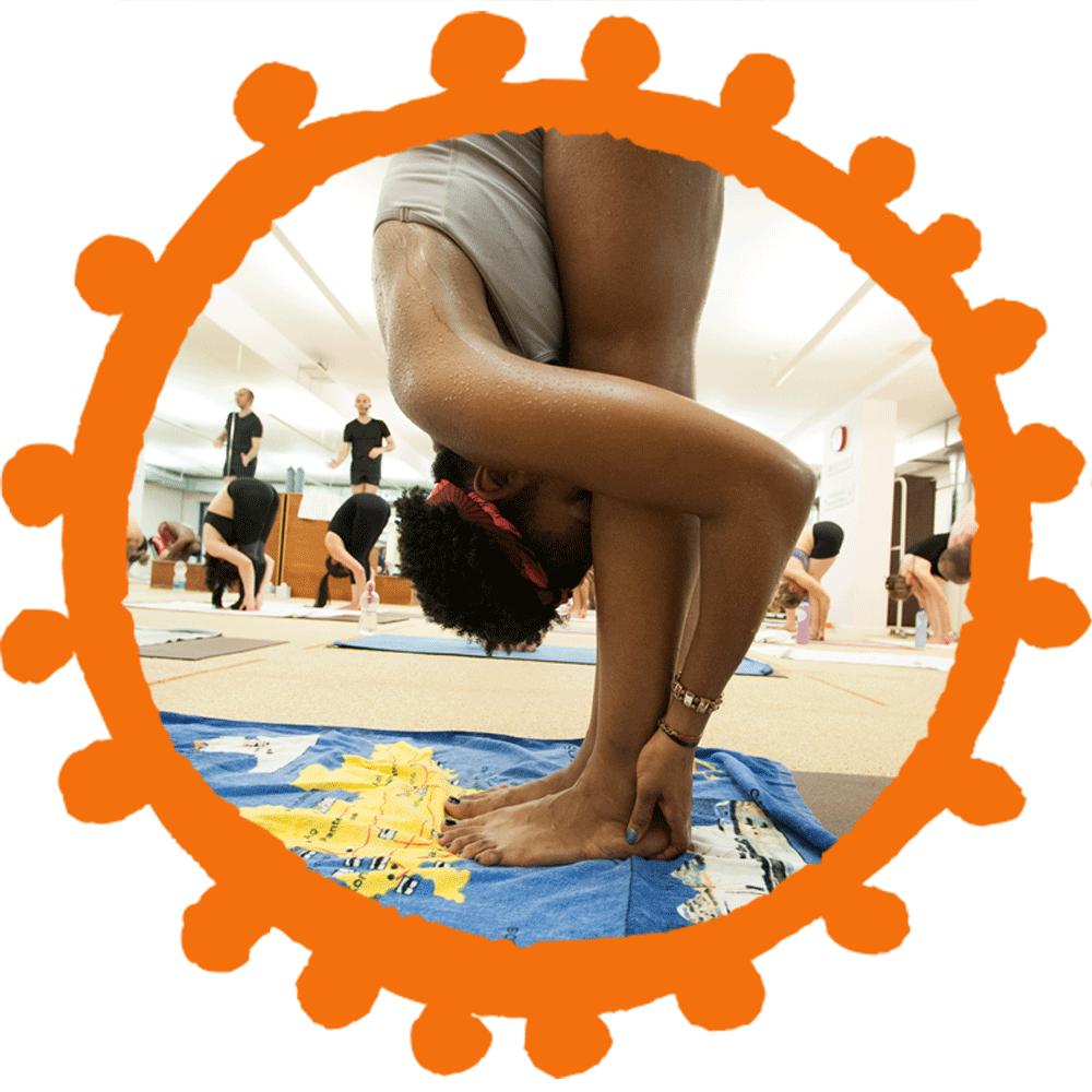 Sohot Bikram Yoga Hands to Feet Pose