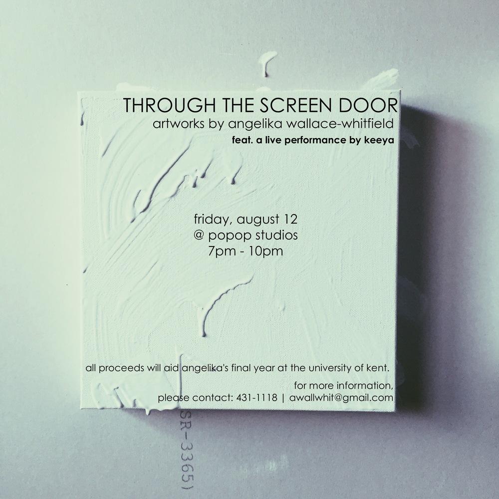 Through The Screen Door Angelika Wallace Whitfield At Popopstudios