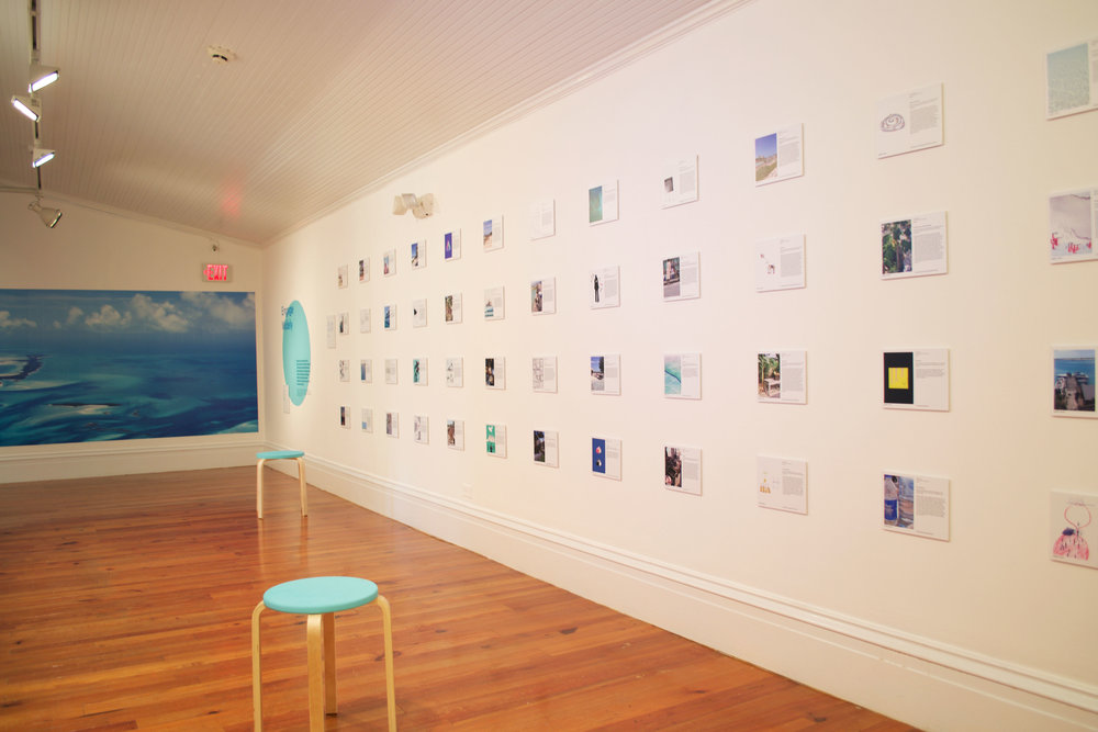Installation shot of 'A Sustainable Future for Exuma'.