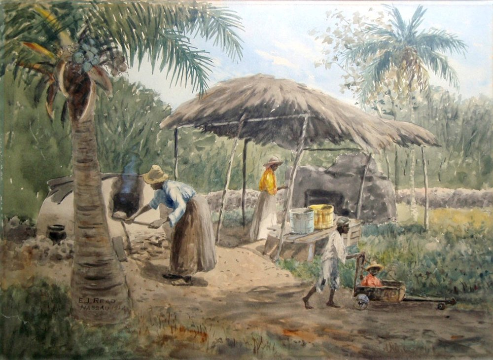 "'Clay Oven' (1912), E.J. Read, 14"" x 19"", watercolour on paper. Part of the National Collection as seen in the Permanent Exhibition."