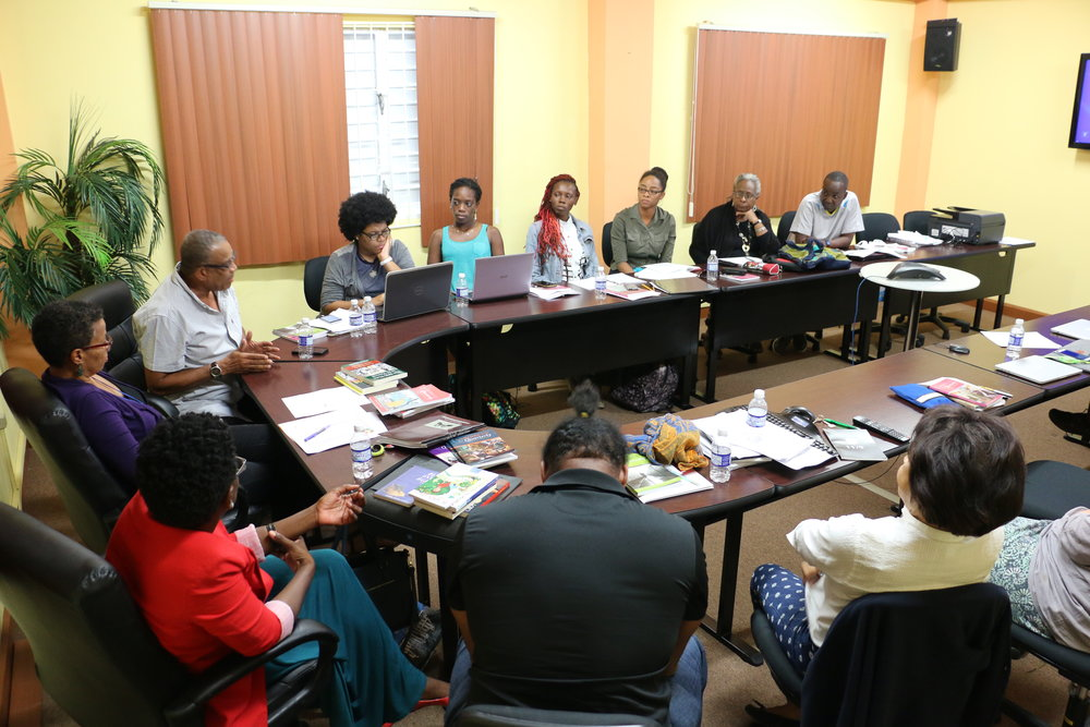 Creative Journalism Workshop partners, facilitators, and participants observe guest panel discussion on Thursday, January 12th at the University of the West Indies, Mona, Jamaica.