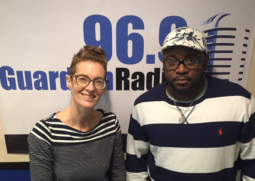 Host Amanda Coulson and artist Ryan Turnquest.