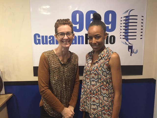 Blank Canvas host Amanda Coulson and NE8 participating artist Keisha Oliver