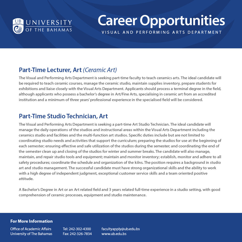 UB Visual Arts - Career Opportunities (March 2017 Ad).jpg