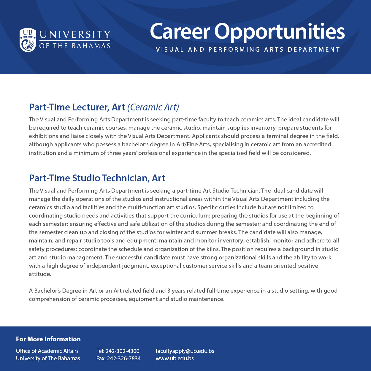 ub visual arts department employment opportunities national ub visual arts department employment opportunities