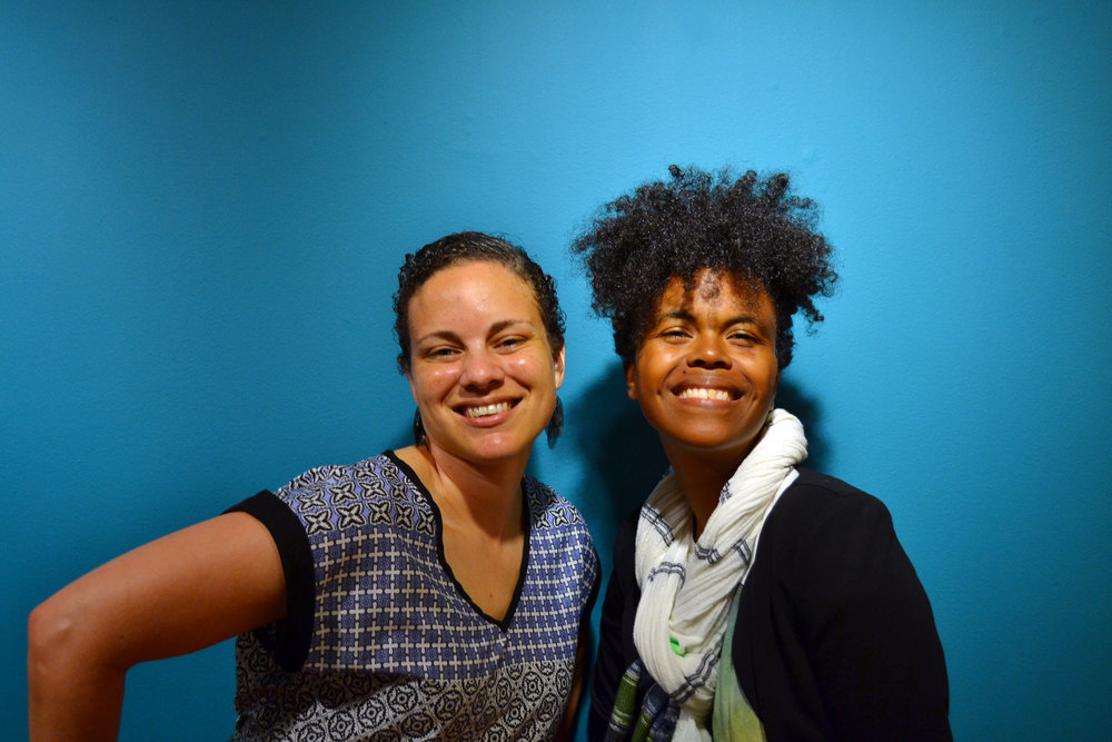 1.     Portrait of Katrina Cartwright and Malika Pryor-Martin, Education Officer and Communications and Development Officer (L-R) at the National Art Gallery of the Bahamas. Image courtesy the NAGB.